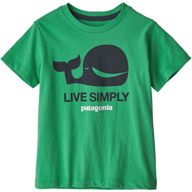 Patagonia Live Simply Organic T-Shirt Kids live simply whale/nettle green